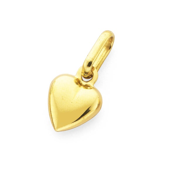 Heart Charm in 9ct Yellow Gold