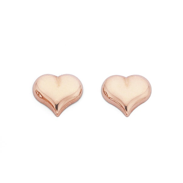 Heart Studs in 9ct Rose Gold