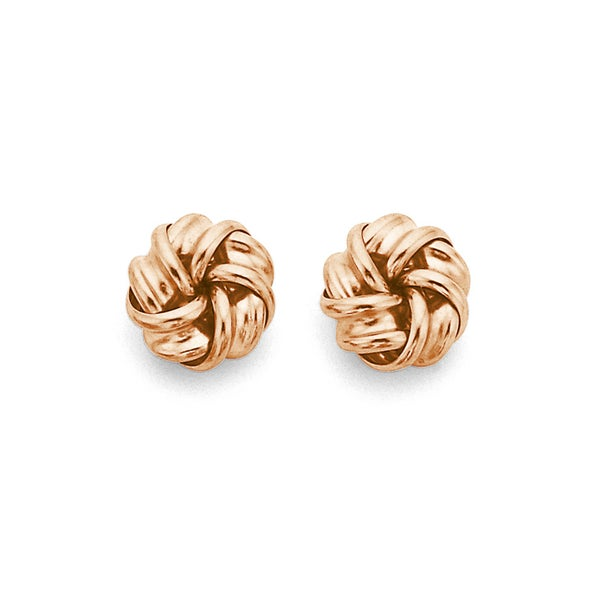 Knot Studs in 9ct Rose Gold