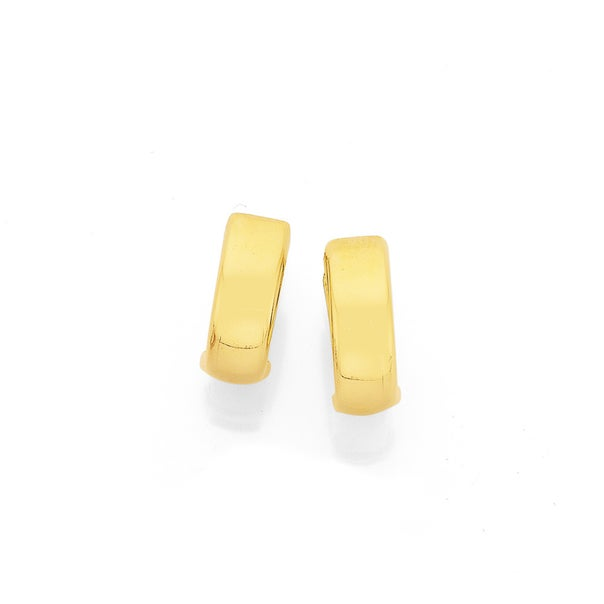 Polished Huggies in 9ct Yellow Gold