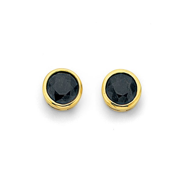 Sapphire Studs in 9ct Yellow Gold