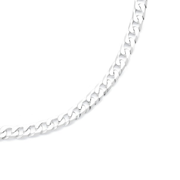 Sterling Silver 45cm Curb Chain Necklace