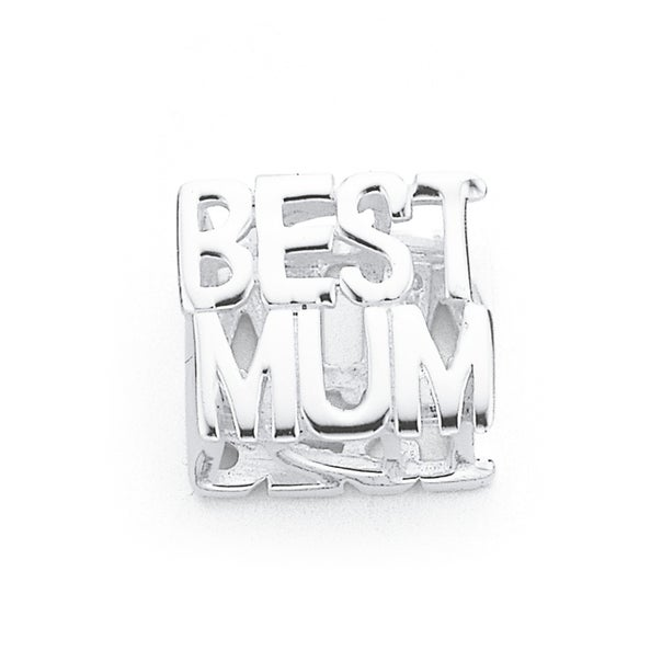 Sterling Silver Best Mum Charm