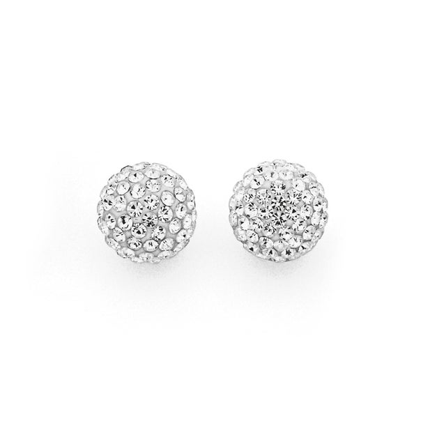 Sterling Silver Crystal Studs