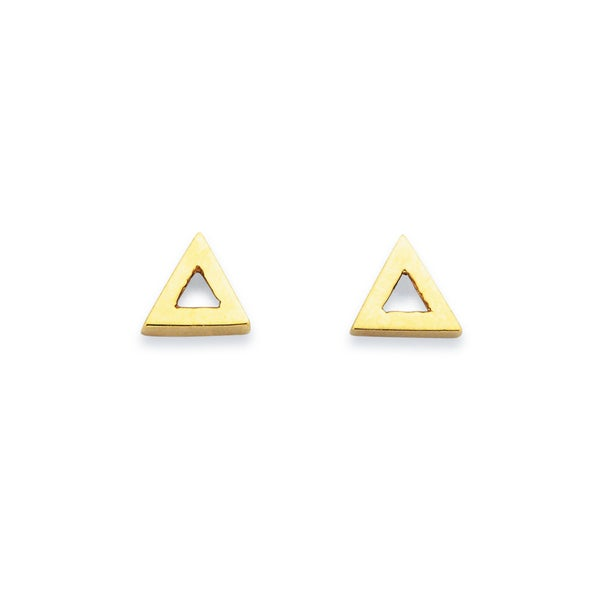 Triangle Studs in 9ct yellow gold