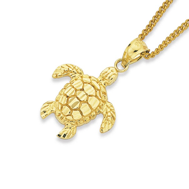 Turtle Pendant in 9ct Yellow Gold