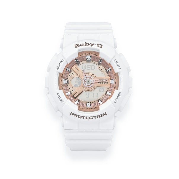 White and Rose Gold Casio Baby-G Watch